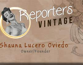 #32 untuk Design Business Cards and Advertisement for Reporters Vintage oleh confrosh