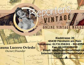 #36 untuk Design Business Cards and Advertisement for Reporters Vintage oleh jhoankhailerhia