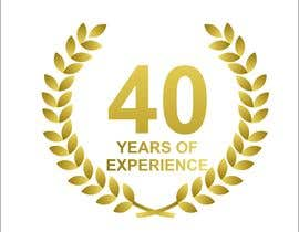 "#19 for Design a Logo for ""40 Years Experience"" by thoughtcafe"