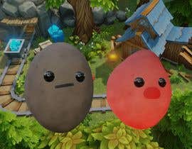 Nro 9 kilpailuun Two 2D potatoes with faces for use in a mobile UNITY game. Export through BLENDER. käyttäjältä youssefdarwich01