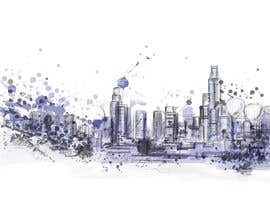 #17 cho Design a hand drawn abstract skyline on white background bởi Alaber