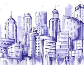 #13 cho Design a hand drawn abstract skyline on white background bởi nonie26