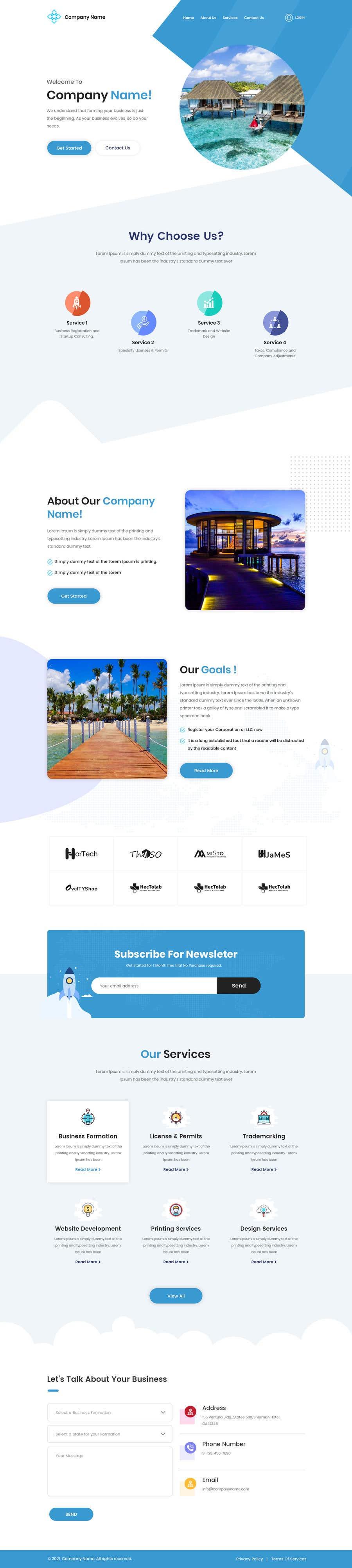 Proposition n°                                        98                                      du concours                                         Website Design for a company page