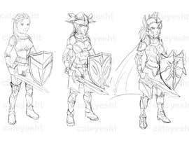 #53 untuk 2d design of an armour for gaming oleh cateyesht