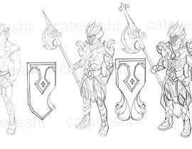 #76 untuk 2d design of an armour for gaming oleh cateyesht