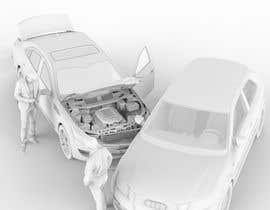 nº 43 pour 3d white auto body damage par sattarrahmani