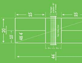 Nro 7 kilpailuun Pickleball court indoor environment mock-up käyttäjältä Debpritom