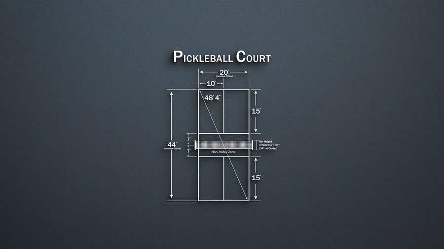 Kilpailutyö #                                        8                                      kilpailussa                                         Pickleball court indoor environment mock-up