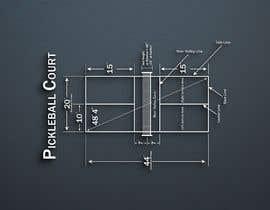 Nro 11 kilpailuun Pickleball court indoor environment mock-up käyttäjältä Debpritom