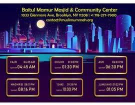 Číslo 25 pro uživatele Design a digital notice board for displaying in Mosque od uživatele DesignerAoul