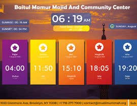 Číslo 23 pro uživatele Design a digital notice board for displaying in Mosque od uživatele GraphicsMEN