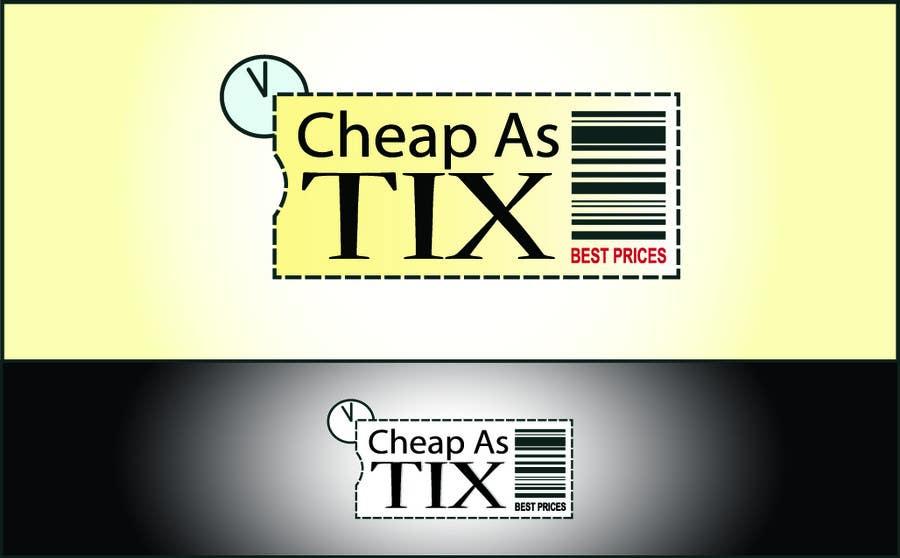 Contest Entry #120 for Logo Design for Cheap As TIX