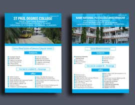 #37 untuk Flyer design for Degree college  and PU College, Admission Open announcement . Data mentioned Below. Use extra oleh JarinAkterkst
