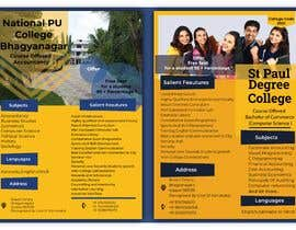 #36 untuk Flyer design for Degree college  and PU College, Admission Open announcement . Data mentioned Below. Use extra oleh ZiaulHaqueke