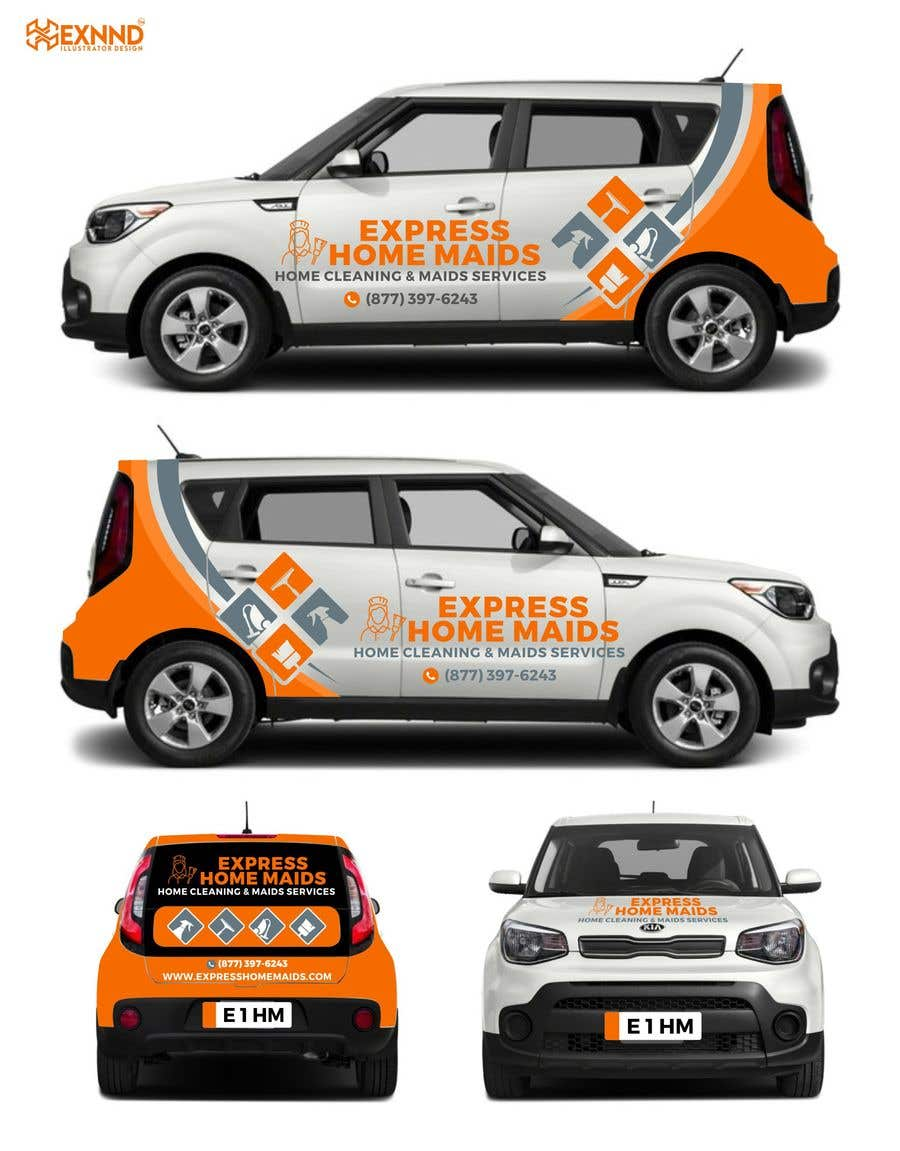 Proposition n°                                        32                                      du concours                                         CAR WRAP DESIGN CONTEST FOR HOUSE CLEANING COMPANY
