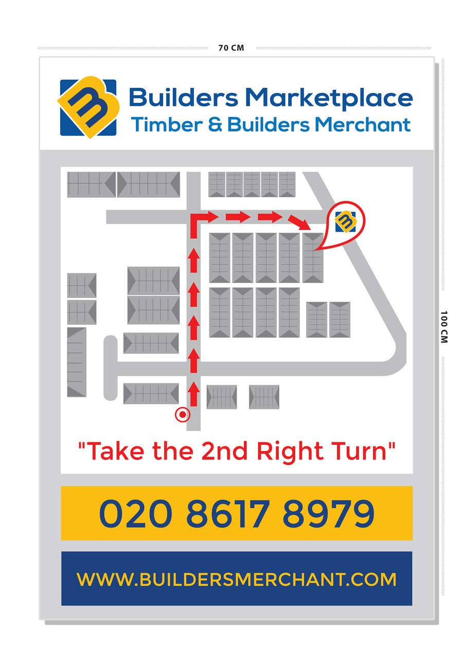 Konkurrenceindlæg #                                        9                                      for                                         Design a Direction Poster Map for Business