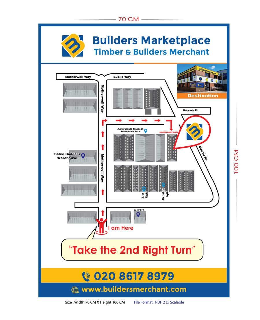 Konkurrenceindlæg #                                        20                                      for                                         Design a Direction Poster Map for Business