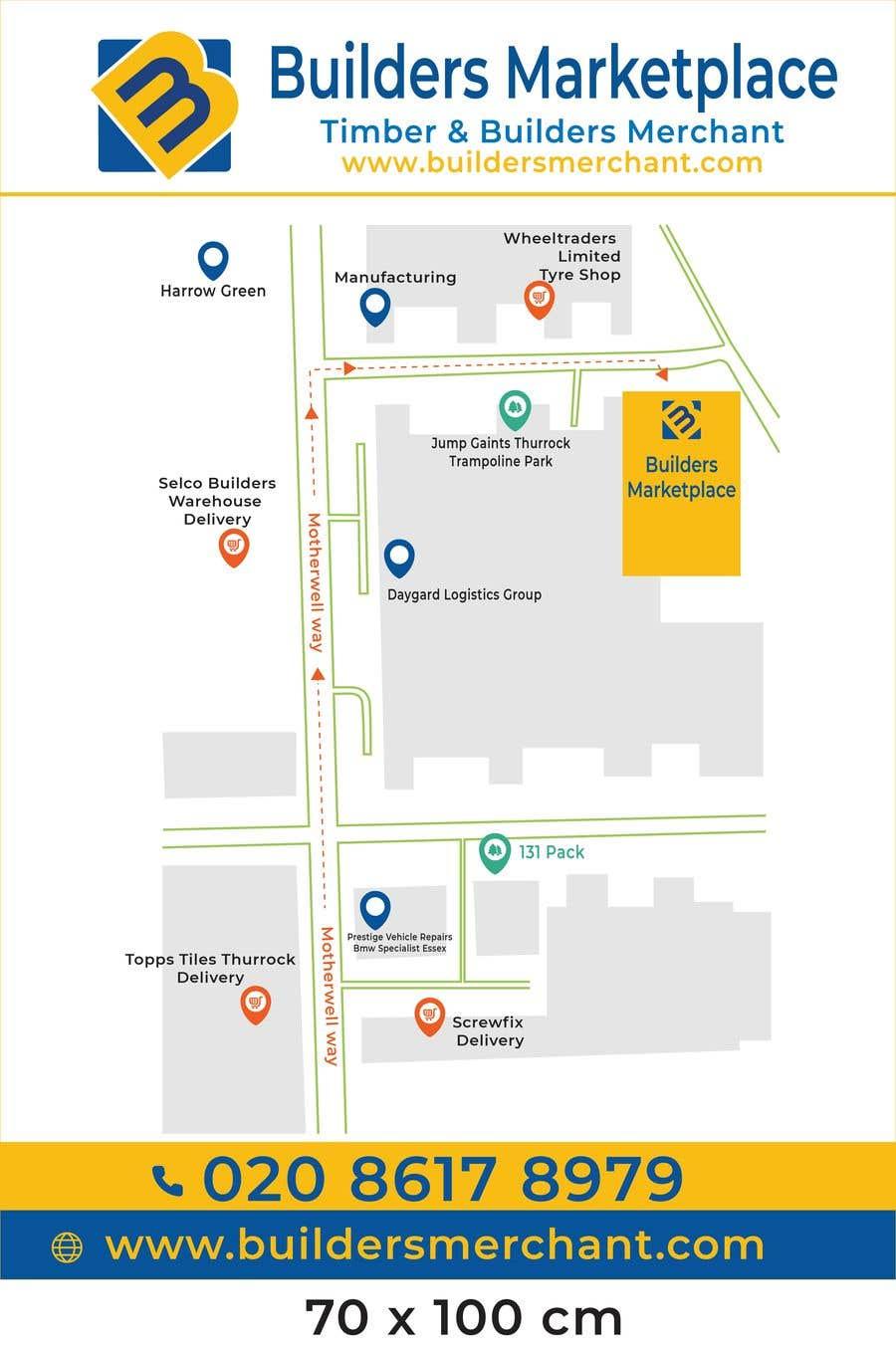 Konkurrenceindlæg #                                        4                                      for                                         Design a Direction Poster Map for Business