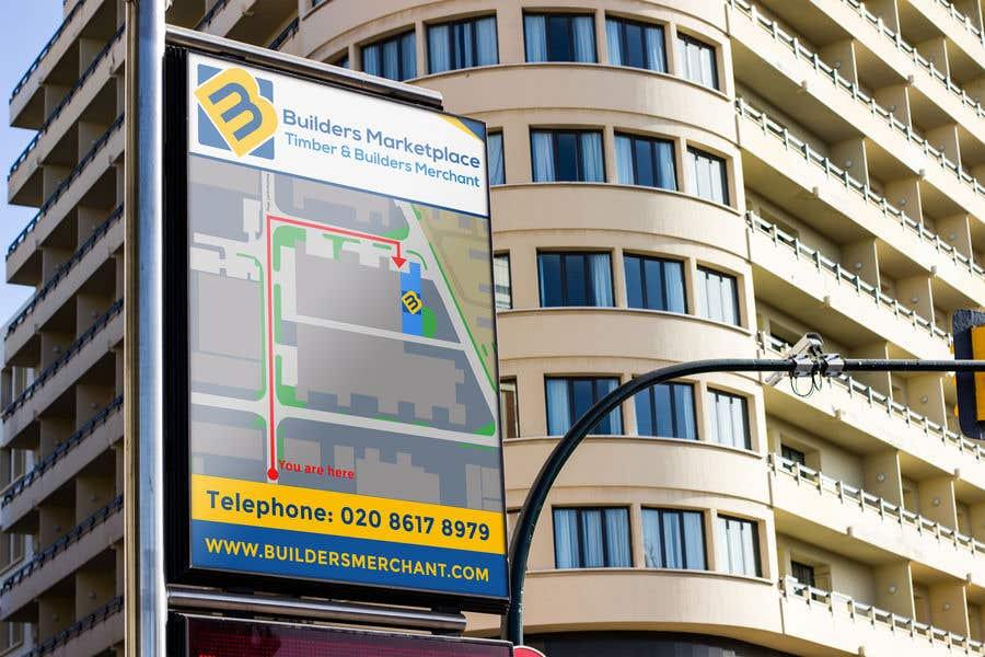 Konkurrenceindlæg #                                        8                                      for                                         Design a Direction Poster Map for Business