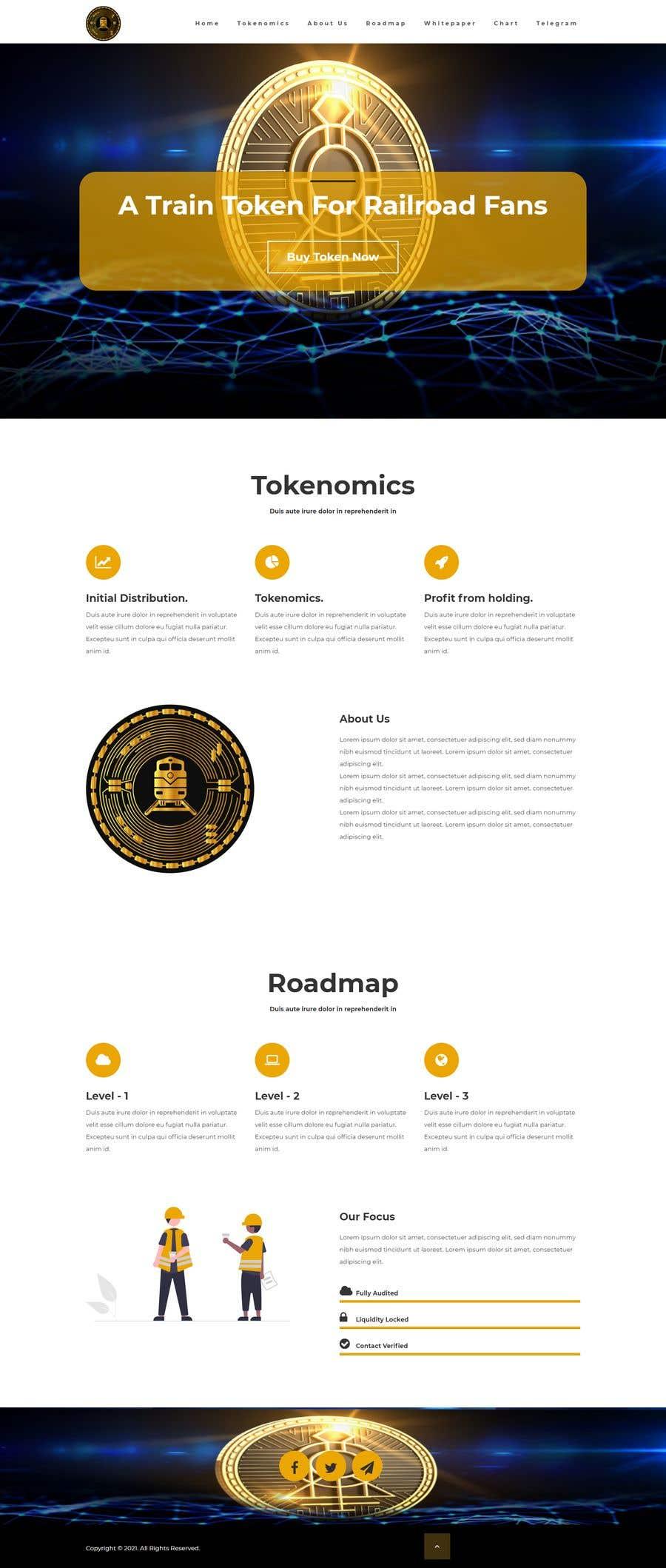 Kilpailutyö #                                        25                                      kilpailussa                                         Website for our Crypto Token (train rails)