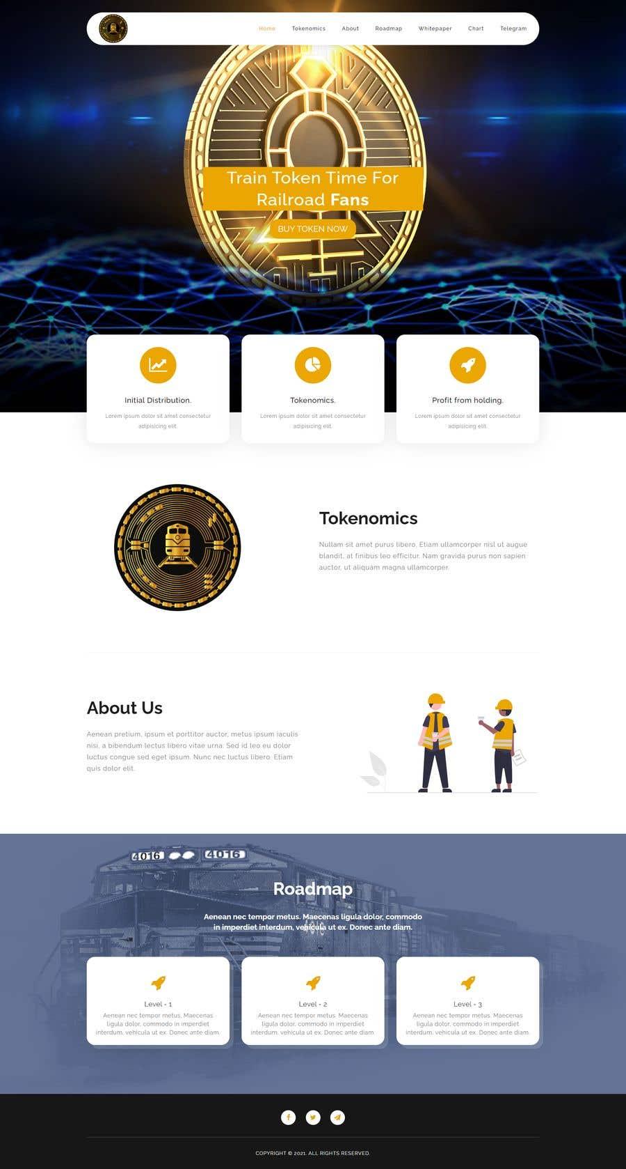 Kilpailutyö #                                        27                                      kilpailussa                                         Website for our Crypto Token (train rails)