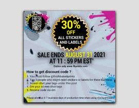 Nro 129 kilpailuun Social Media Sticker Discount Flyer -Gene käyttäjältä israfilbsj