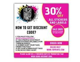 Nro 151 kilpailuun Social Media Sticker Discount Flyer -Gene käyttäjältä xussainrazaq333