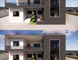#6 for Design a minimalistic home exterior design as per the attached floor plan. af omarabouzaid