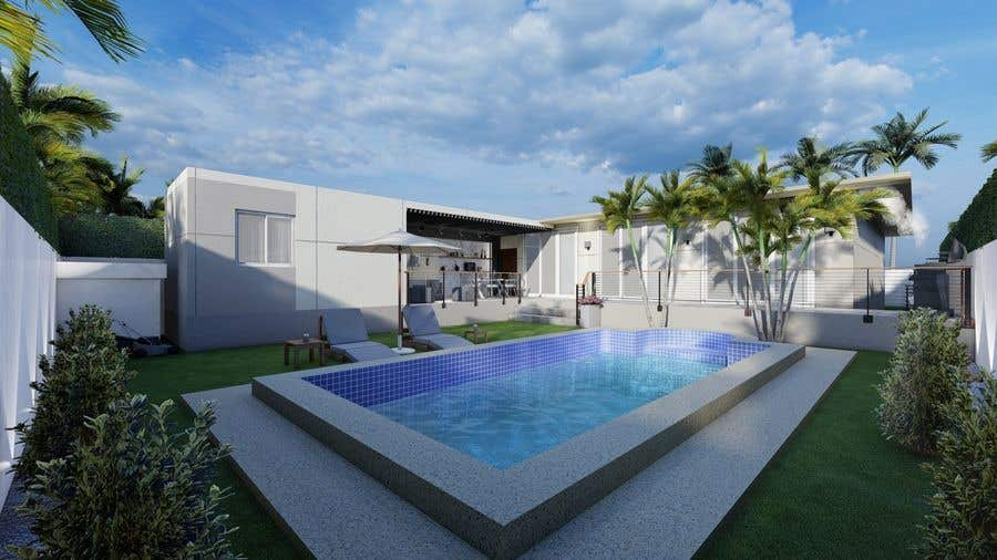 Penyertaan Peraduan #                                        8                                      untuk                                         Building a covered terrace with room for office & bathroom + laundry & storage area