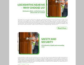 Nro 22 kilpailuun Mockup Design a unique and fresh looking website for locksmith käyttäjältä stylishwork