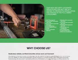 Nro 45 kilpailuun Mockup Design a unique and fresh looking website for locksmith käyttäjältä pshalini044