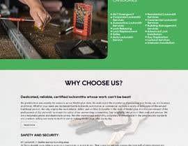 Nro 51 kilpailuun Mockup Design a unique and fresh looking website for locksmith käyttäjältä pshalini044