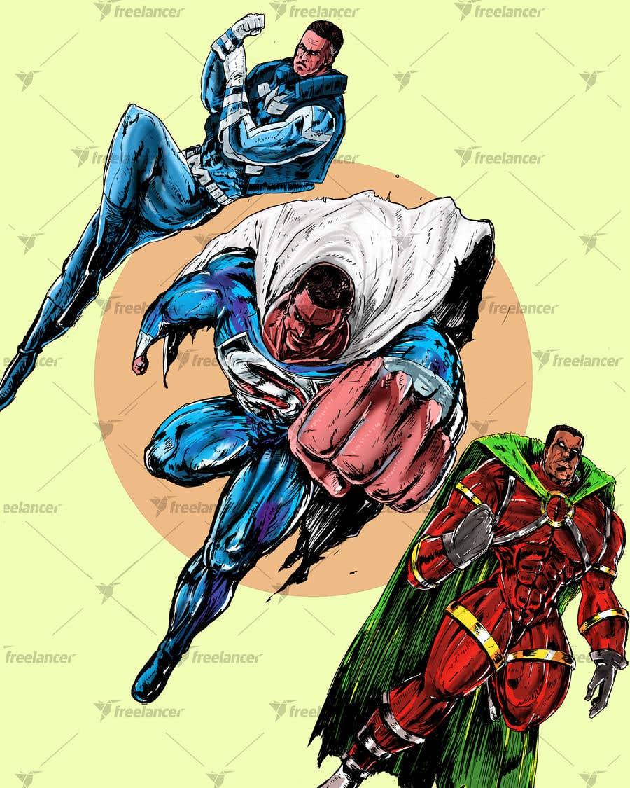 Konkurrenceindlæg #                                        15                                      for                                         Recreate 3 Superheroes - High Quality Photoshop or Illustrator Art