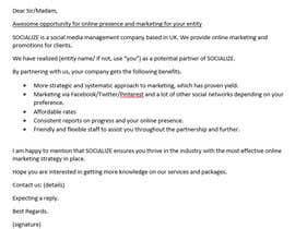 Nro 6 kilpailuun Email Pitch käyttäjältä NipunV