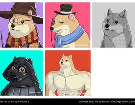 #44 for Illustrate Shiba Inu 2d Avatars using Doge Pound as inspiration for art style by stacheous