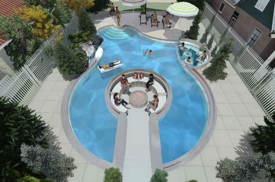 Proposition n°                                        32                                      du concours                                         Do 3d render for pool in sketchup, vray,  lumion or similar softwares.