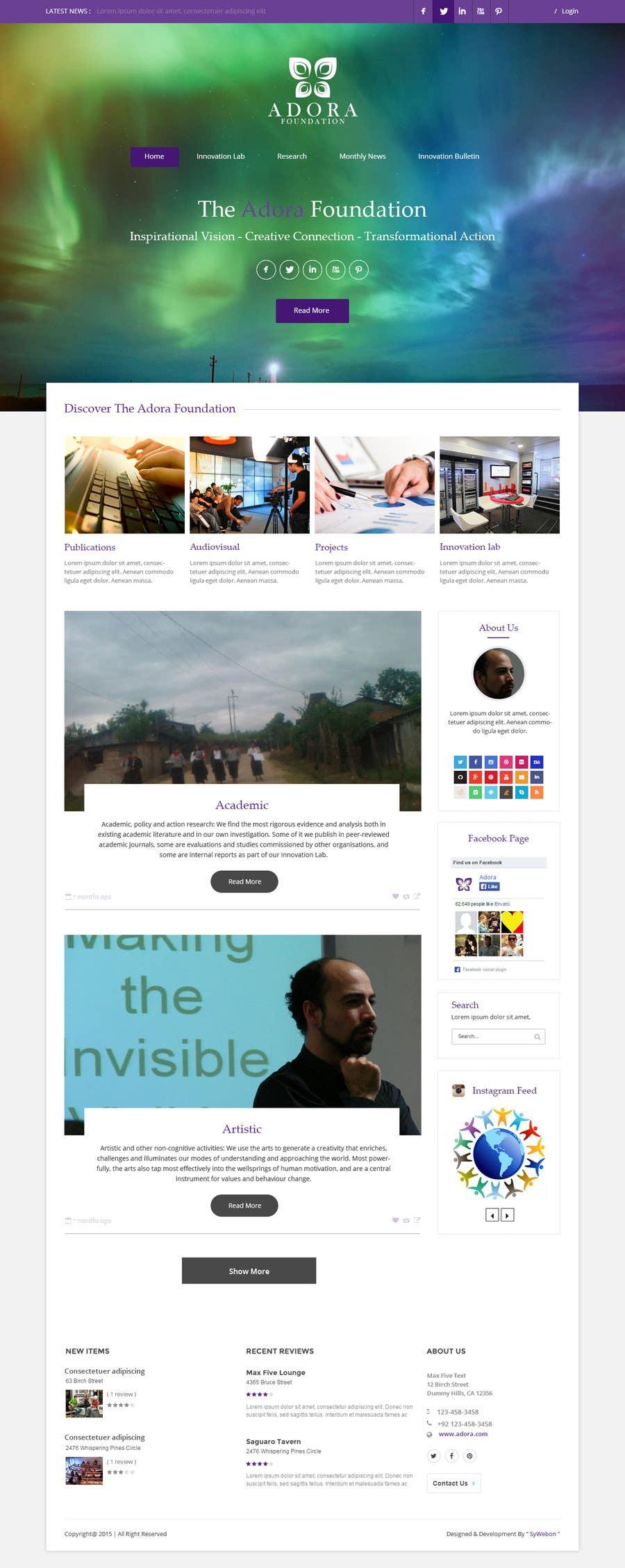 Konkurrenceindlæg #25 for Design a Website Mockup for international NGO