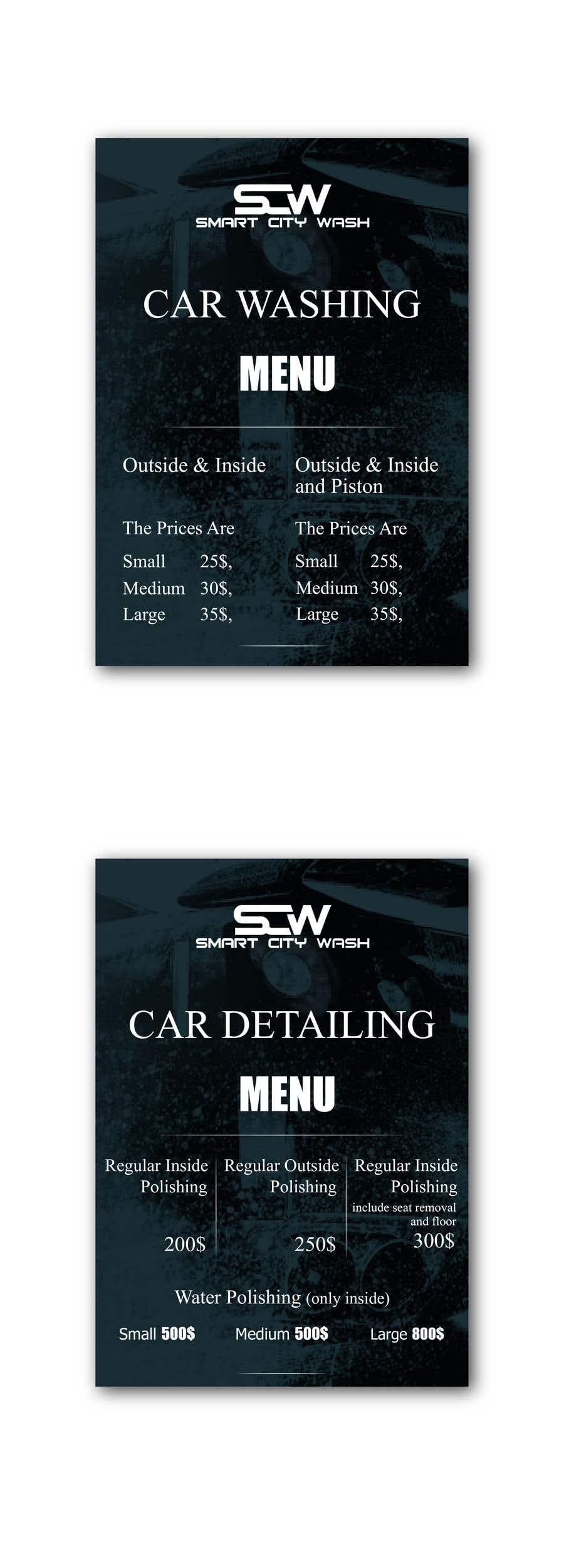 Penyertaan Peraduan #                                        12                                      untuk                                         Price Board and IG Post Design for Car Wash Shop