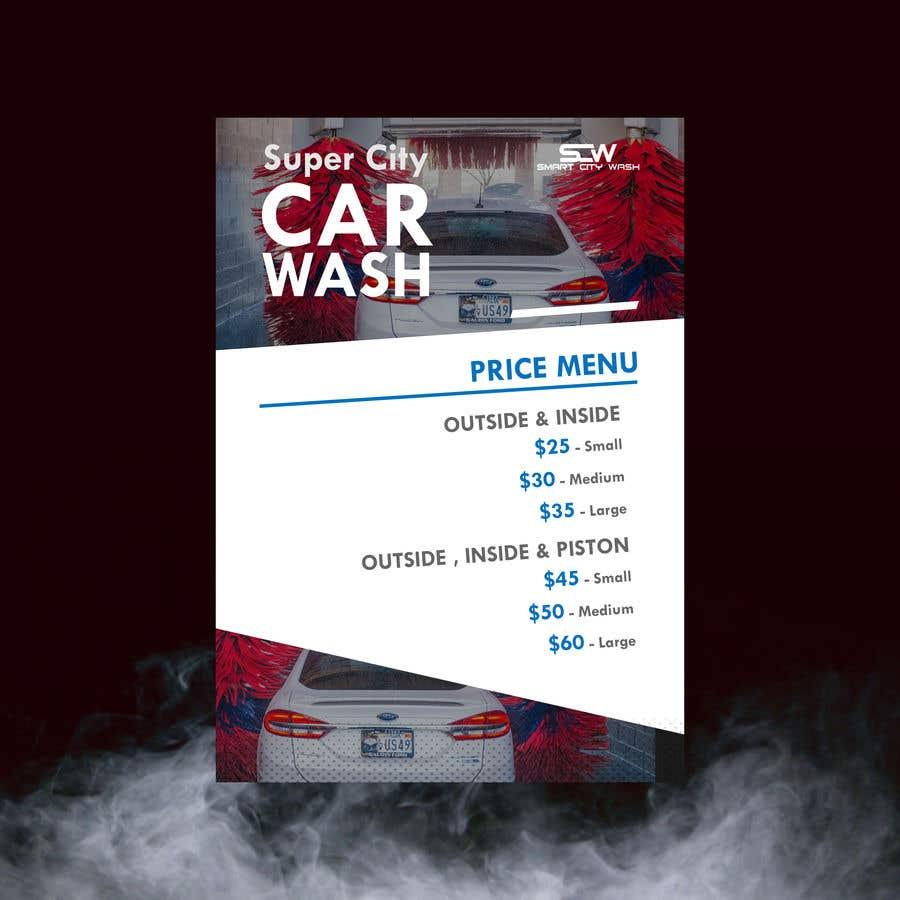 Penyertaan Peraduan #                                        25                                      untuk                                         Price Board and IG Post Design for Car Wash Shop