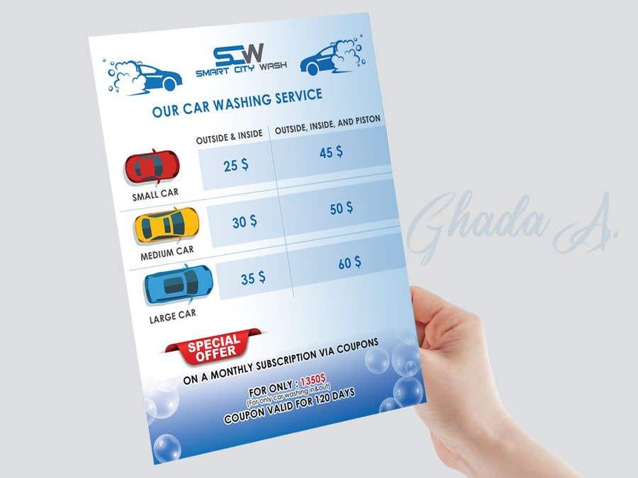 Penyertaan Peraduan #                                        22                                      untuk                                         Price Board and IG Post Design for Car Wash Shop