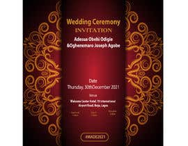 Nro 8 kilpailuun create wedding invitation card käyttäjältä amohammadabdull7