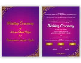 Nro 15 kilpailuun create wedding invitation card käyttäjältä printexpertbd