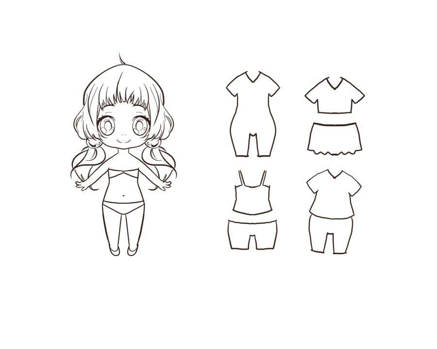 Конкурсная заявка №                                        11                                      для                                         Illustration of cute little girls with outfit