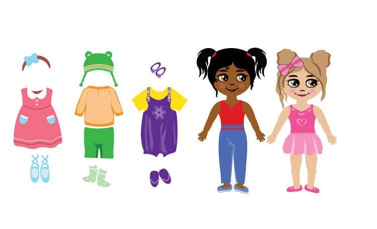 Penyertaan Peraduan #                                        56                                      untuk                                         Illustration of cute little girls with outfit