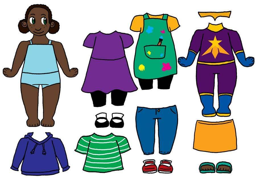 Конкурсная заявка №                                        39                                      для                                         Illustration of cute little girls with outfit