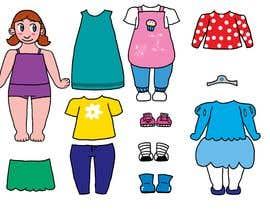 Nro 40 kilpailuun Illustration of cute little girls with outfit käyttäjältä SoraJen7375