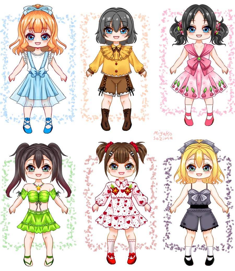 Конкурсная заявка №                                        43                                      для                                         Illustration of cute little girls with outfit