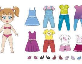 Nro 52 kilpailuun Illustration of cute little girls with outfit käyttäjältä german84