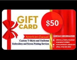 #26 untuk redesign my gift card oleh PkDesign007