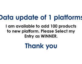 #1 for Data update of 1 platforms by indeedsolutionz